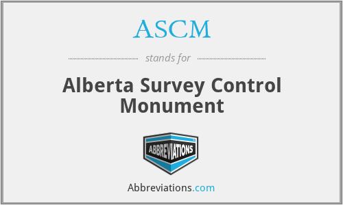 ASCM - Alberta Survey Control Monument