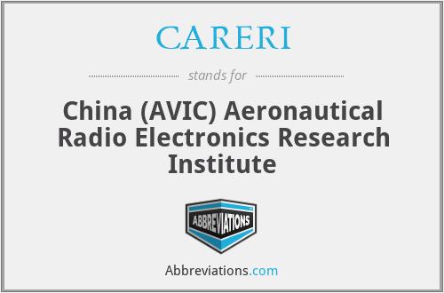 CARERI - China (AVIC) Aeronautical Radio Electronics Research Institute