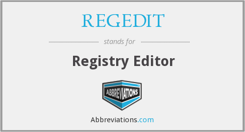 What does REGEDIT stand for?