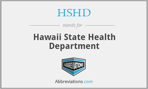 HSHD - Hawaii State Health Department