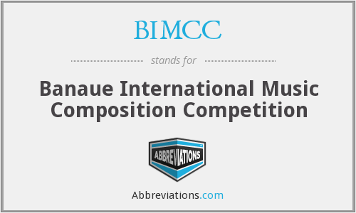 BIMCC - Banaue International Music Composition Competition