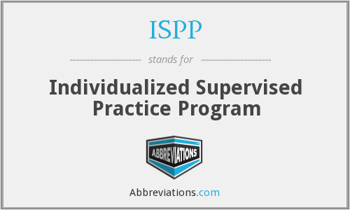 ISPP - Individualized Supervised Practice Program