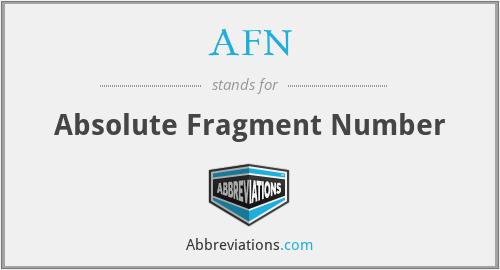 AFN - Absolute Fragment Number