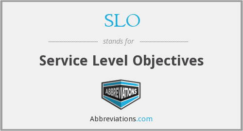 SLO - Service Level Objectives