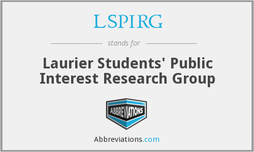 LSPIRG - Laurier Students' Public Interest Research Group