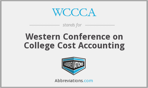 WCCCA - Western Conference on College Cost Accounting