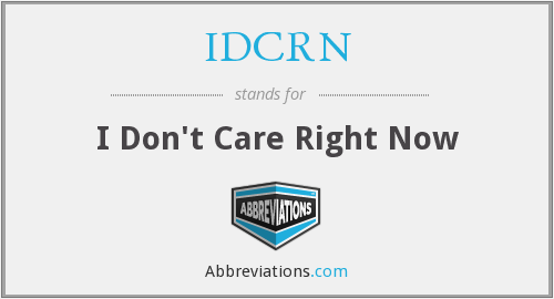 What does IDCRN stand for?