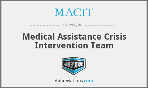 What does MACIT stand for?