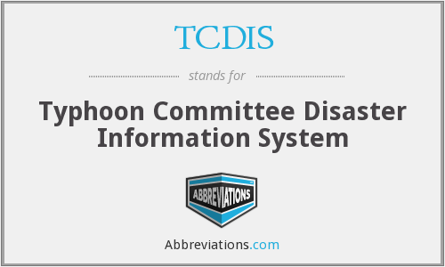 TCDIS - Typhoon Committee Disaster Information System