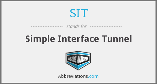 SIT - Simple Interface Tunnel