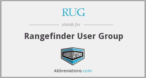 RUG - Rangefinder User Group