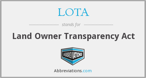 LOTA - Land Owner Transparency Act
