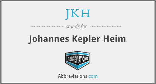 JKH - Johannes Kepler Heim
