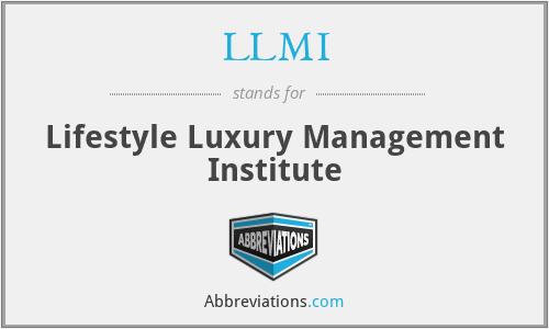 LLMI - Lifestyle Luxury Management Institute