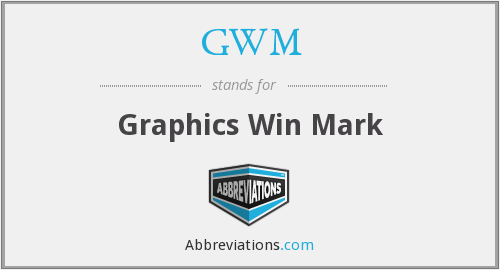 GWM - Graphics Win Mark