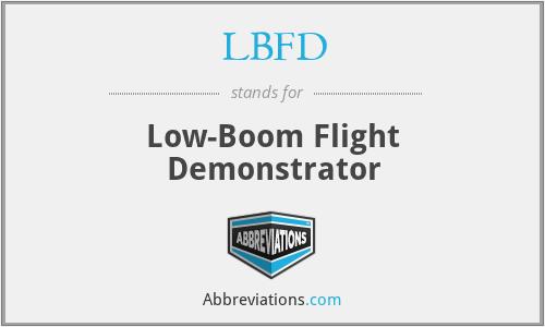 LBFD - Low-Boom Flight Demonstrator