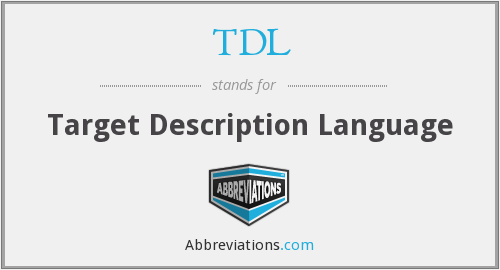 TDL - Target Description Language