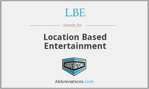 LBE - Location Based Entertainment