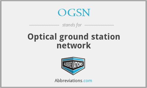 OGSN - Optical ground station network