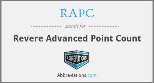 RAPC - Revere Advanced Point Count