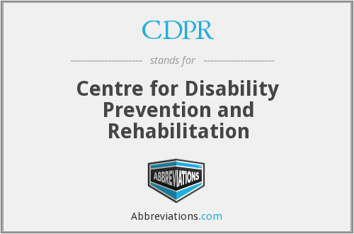 CDPR - Centre for Disability Prevention and Rehabilitation