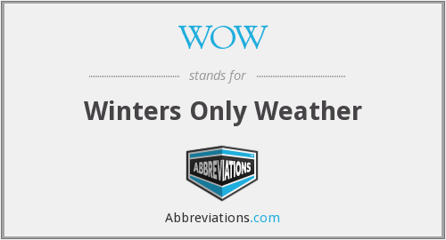 WOW - Winters Only Weather