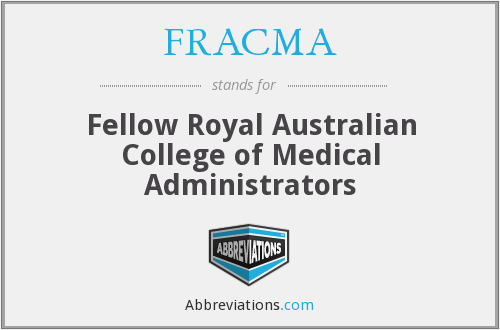 What does FRACMA stand for?