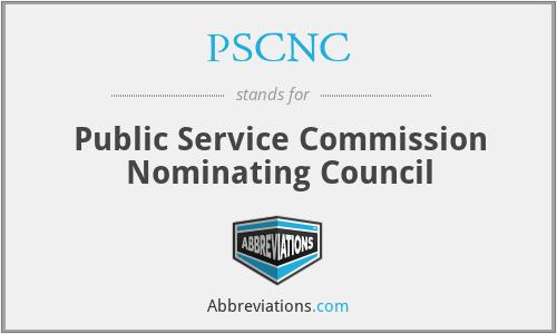 PSCNC - Public Service Commission Nominating Council
