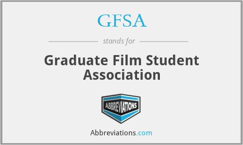 GFSA - Graduate Film Student Association