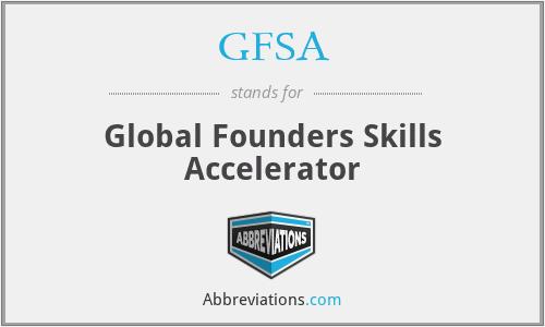 GFSA - Global Founders Skills Accelerator