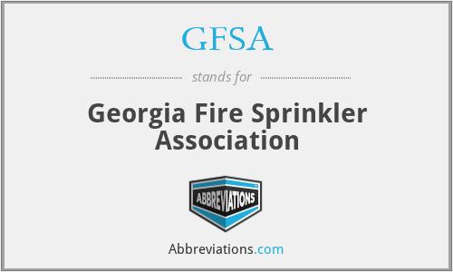 GFSA - Georgia Fire Sprinkler Association