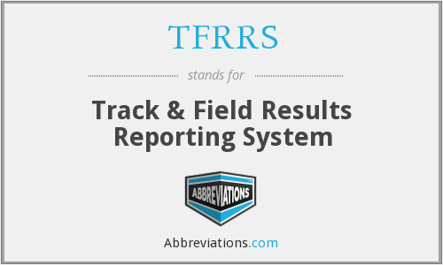 What does TFRRS stand for?