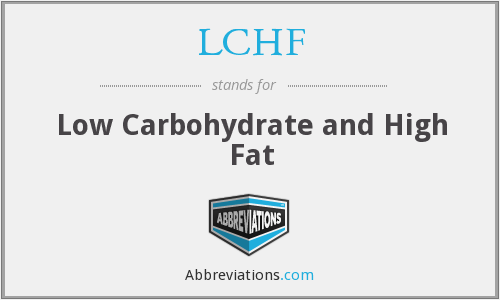LCHF - Low Carbohydrate and High Fat