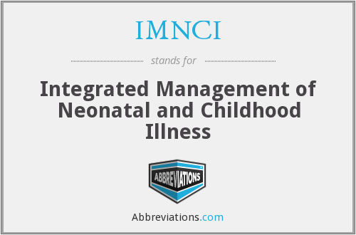 What does IMNCI stand for?