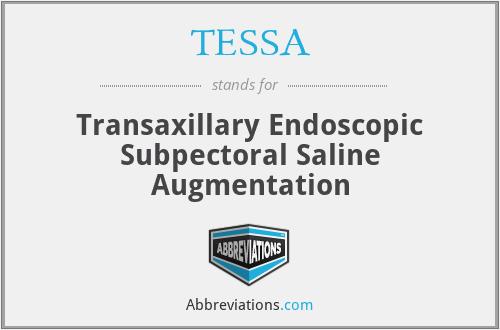 TESSA - Transaxillary Endoscopic Subpectoral Saline Augmentation