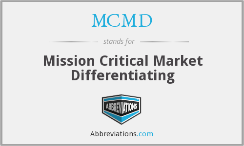 What does MCMD stand for?
