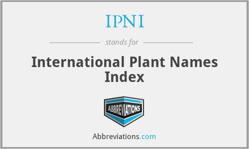 IPNI - International Plant Names Index