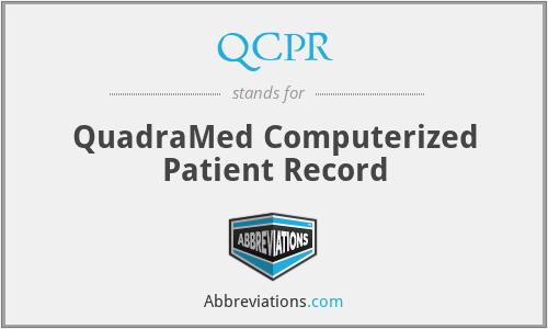 QCPR - QuadraMed Computerized Patient Record