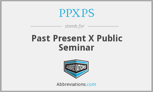 What does PPXPS stand for?