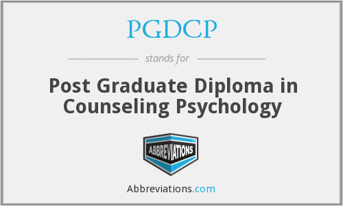 PGDCP - Post Graduate Diploma in Counseling Psychology
