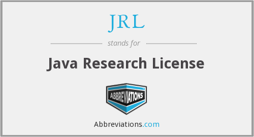 JRL - Java Research License