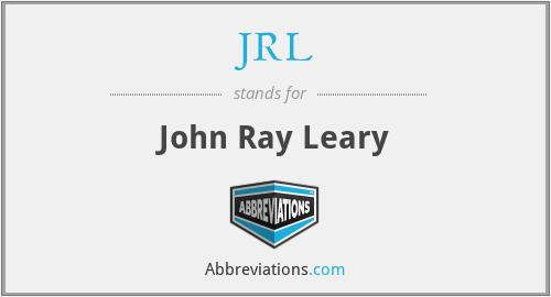 JRL - John Ray Leary