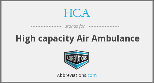 HCA - High capacity Air Ambulance