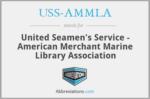 USS-AMMLA - United Seamen's Service - American Merchant Marine Library Association