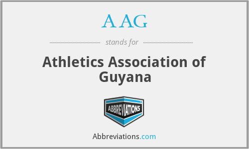 AAG - Athletics Association of Guyana