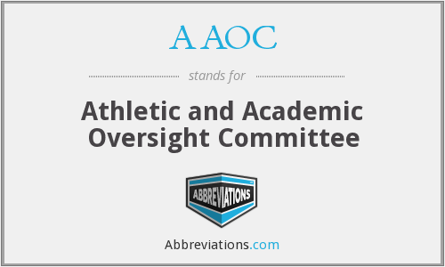 AAOC - Athletic and Academic Oversight Committee