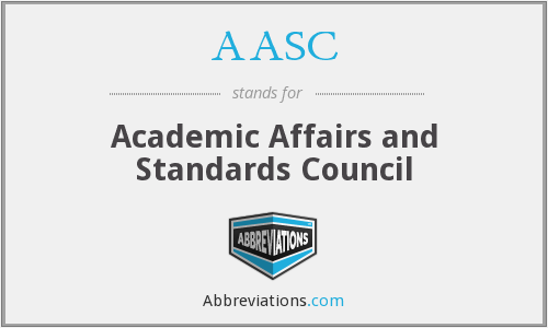 AASC - Academic Affairs and Standards Council