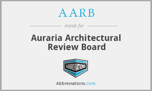 AARB - Auraria Architectural Review Board