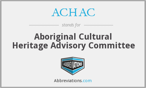 What does ACHAC stand for?