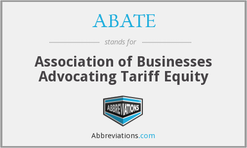 What does ABATE stand for?
